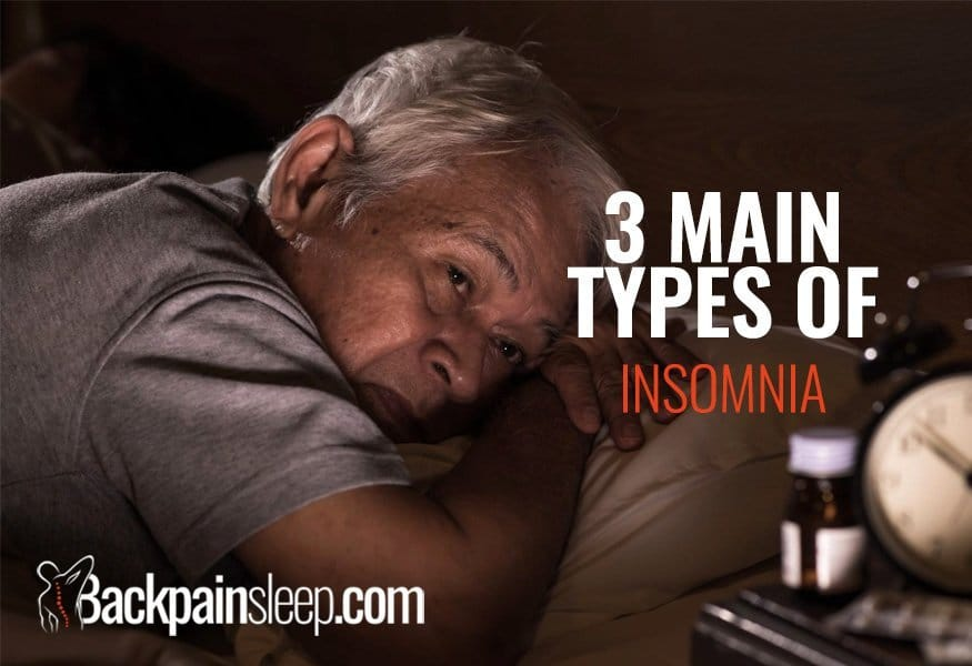 The 3 main types of insomnia